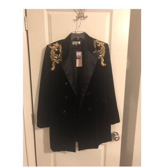 House of CB Dresses   Skirts - Black Velvet Blazer Mini Dress 4f88d56c5